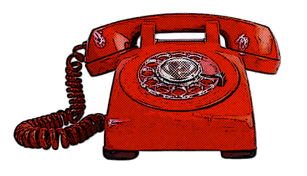 Contact Alert Comic Icon - Red Phone
